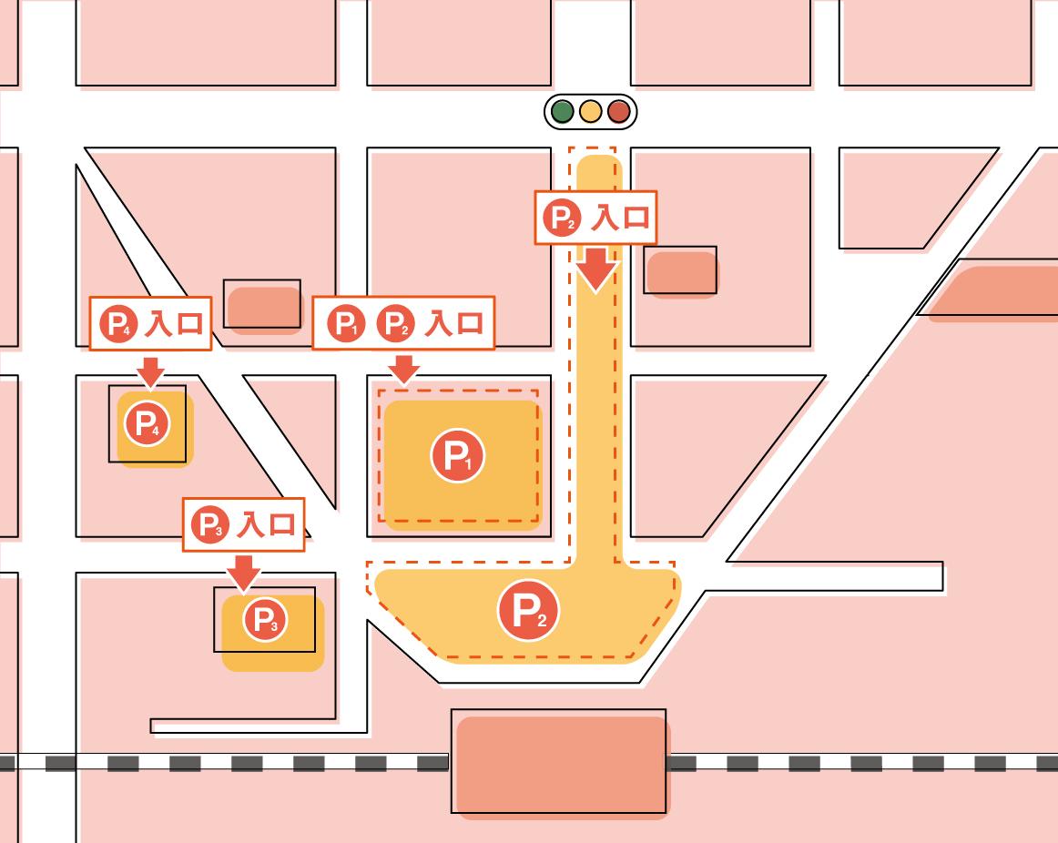 ミュゼ八王子オクトーレ店の駐車場