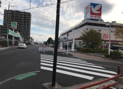5)右手前に「イトーヨーカドー安城店」が見えてきます。
