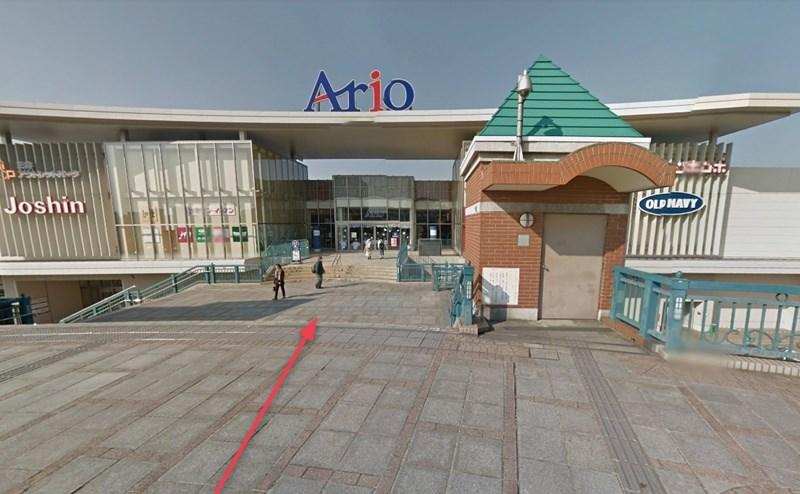 アリオ倉敷の1階が店舗です。