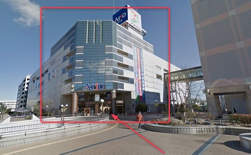 セルパの隣がアリオ仙台店です。こちらの3階にミュゼがあります。