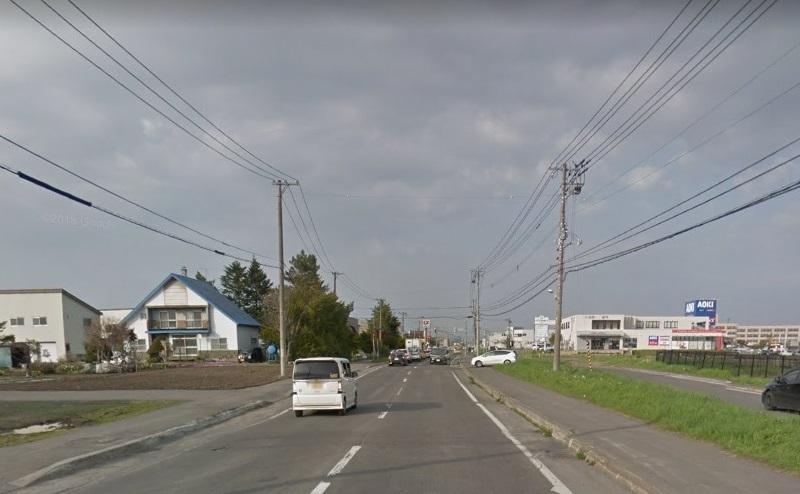 南永山駅をでて左方向