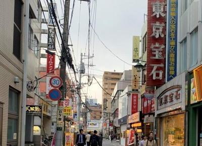 3)右手に東京宝石が見える道がありますので、そちらを約90m直進します。