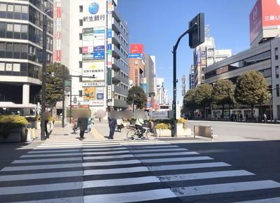 右斜め前方の横断歩道