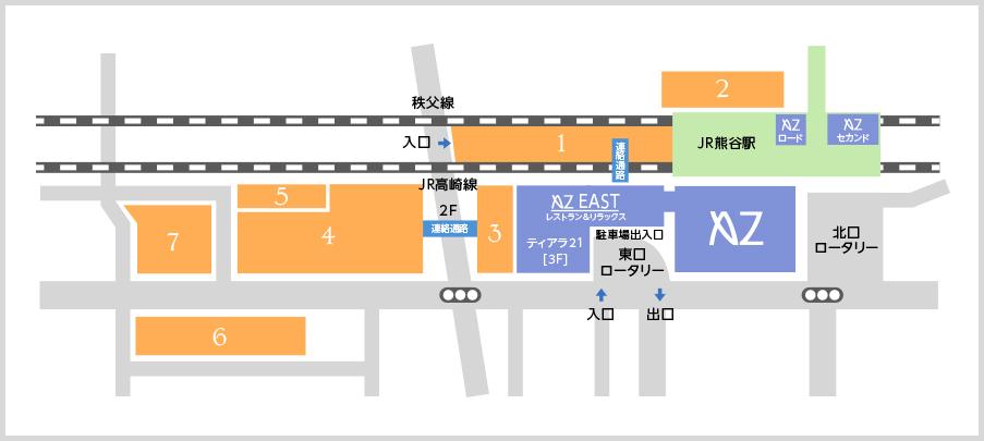 ミュゼ熊谷アズイースト店の駐車場