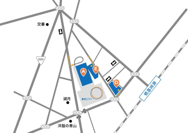 ミュゼ宮崎宮交シティ店の駐車場