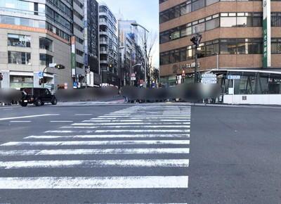 明治通りの横断歩道