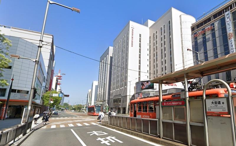 大街道駅を南側に出ます。