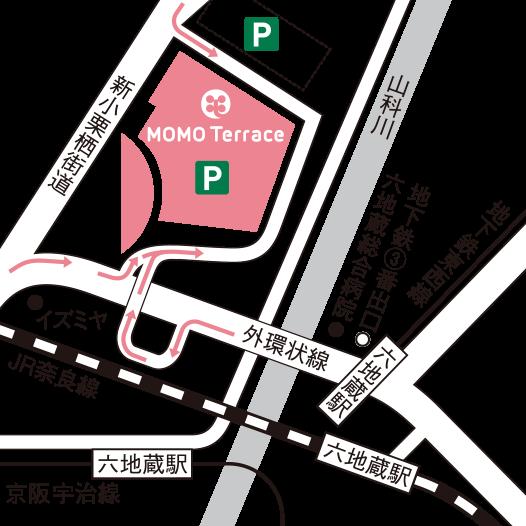 ミュゼMOMOテラス店の駐車場
