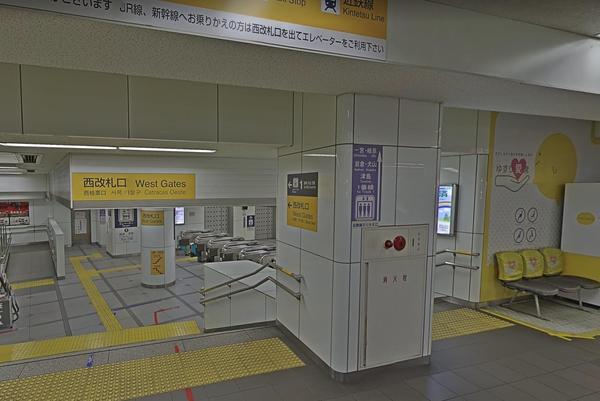 「名鉄名古屋駅」の西改札口を出ます。
