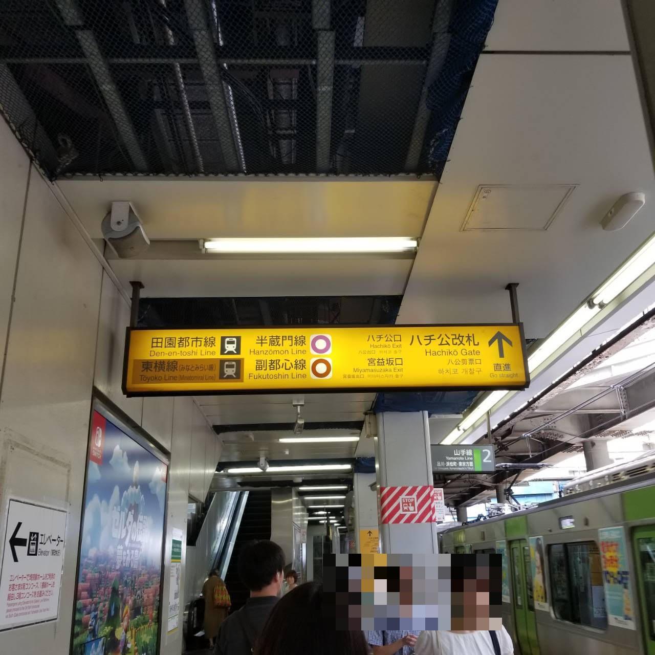 1.渋谷駅ハチ公改札を出ます