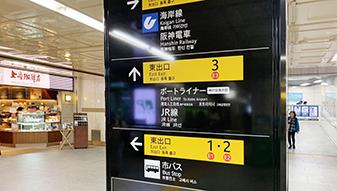 地下鉄山手線 東出口E2番へお進み下さい