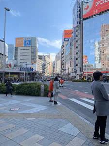 青梅街道の交差点を右に曲がります。