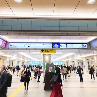 立川駅を北口から出ていただきます。
