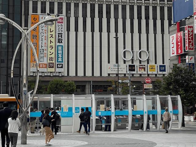 JR錦糸町駅の南口を降り、マルイの方へ向かって進みます。