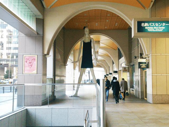 ナナちゃん人形(名鉄百貨店)方面へ向かいます。