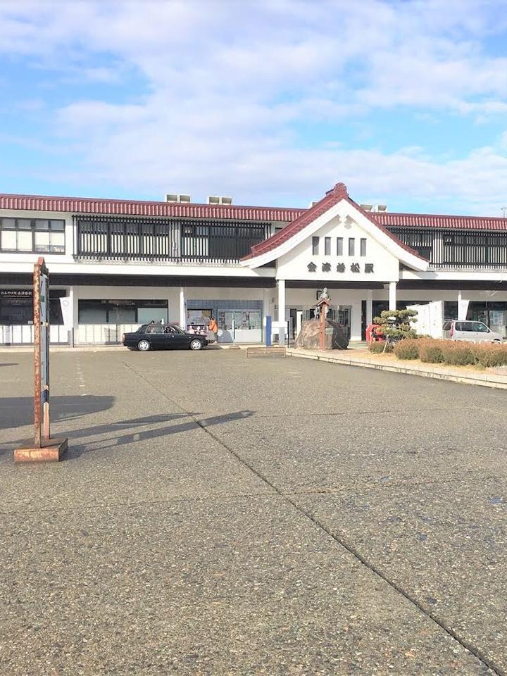 JR会津若松駅(磐越西線、只見線)を、東山・中央通り方面へ向かいます。