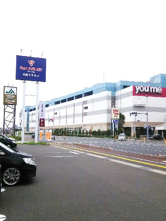 ゆめシティの前の交差点。