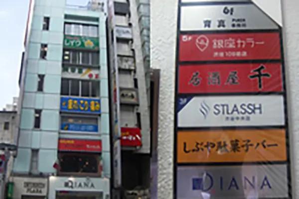 1階に、DIANAという靴屋さんが入っているビルの3階です。