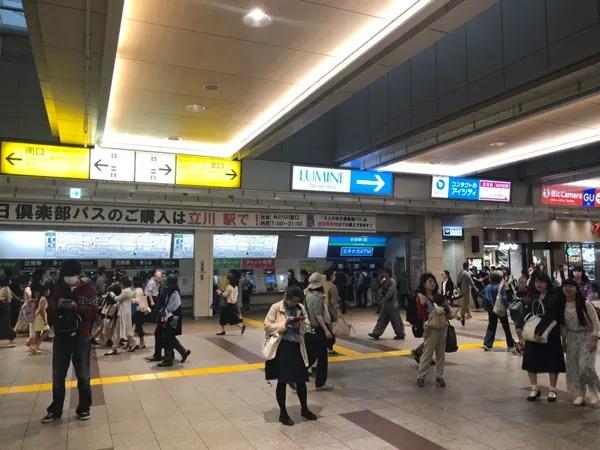 JR立川駅北口を出ていただきます。