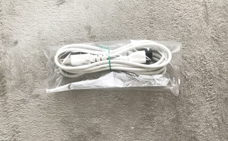 修理されたケノンの電源ケーブル