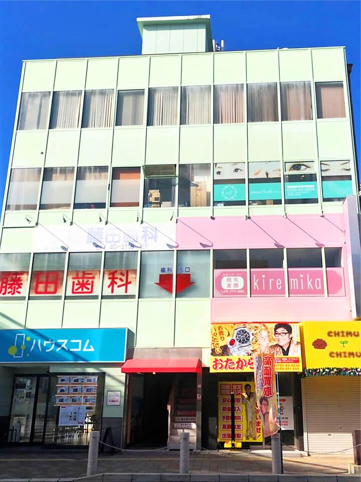 キレミカ和泉店外観写真です。